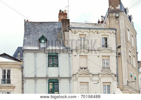 Facades Of Medieval Half-timbered Urban Houses