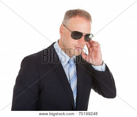 Bodyguard Wearing Sunglasses