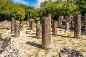 stock photo of albania  - Ruins of the Baptistery in Butrint  - JPG