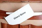 Divorce Document In A Leather Briefcase