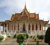 picture of royal palace  - part of the Royal Palace in Phnom Penh the capital and largest city of Cambodia - JPG