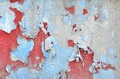 picture of neglect  - Background of neglected wall with layers of old paint  - JPG