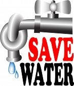 picture of stopcock  - Save Water Vector for Icon and Symbol - JPG