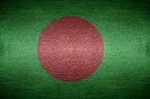 image of bangladesh  - closeup Screen Bangladesh flag concept on PVC leather for background - JPG
