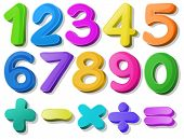 foto of subtraction  - Illustration of multicolored number - JPG