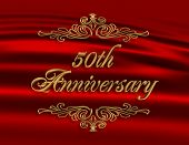 image of 50th  - Illustration composition gold text - JPG