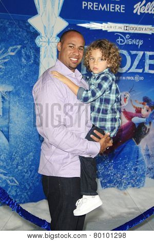 LOS ANGELES - NOV 19: Hank Baskett, Hank Baskett IV at the premiere of Walt Disney Animation Studios' 'Frozen' at the El Capitan Theater on November 19, 2013 in Los Angeles, CA