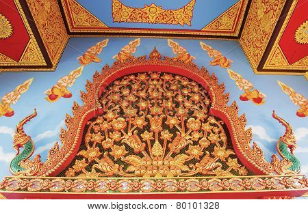 art wall paint in temple ,Thailand