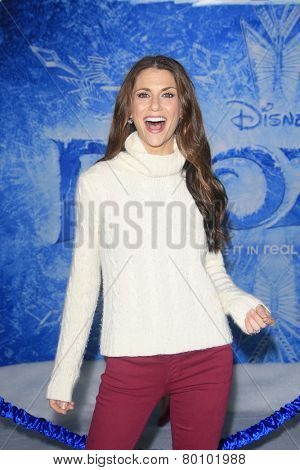 LOS ANGELES - NOV 19: Samantha Harris at the premiere of Walt Disney Animation Studios' 'Frozen' at the El Capitan Theater on November 19, 2013 in Los Angeles, CA