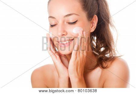 Gorgeous Skincare Brunette.