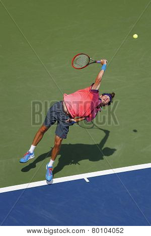 American boys junior player Jared Donaldson during second round match at US Open 2014