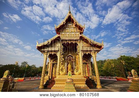 Beautiful temple with blue sky