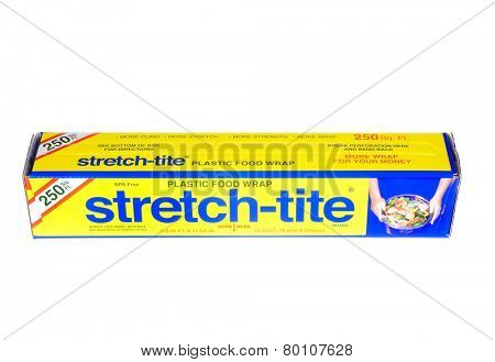 Hayward, CA - January 11, 2015: Packet of 250 Sq Ft of Stretch-tite brand plastic food wrap