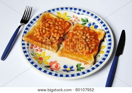 Baked beans on toast.