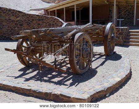 An old mining cart