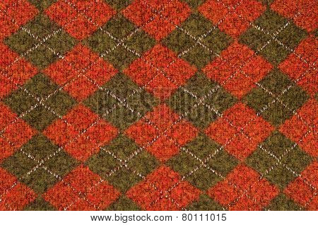 Asymmetric rhombus tartan pattern