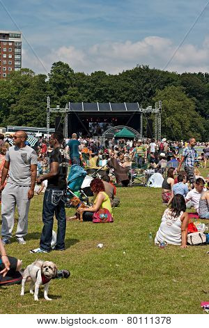 Crowds Enjoy The African Oye Music Festival