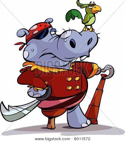 pirate hippo