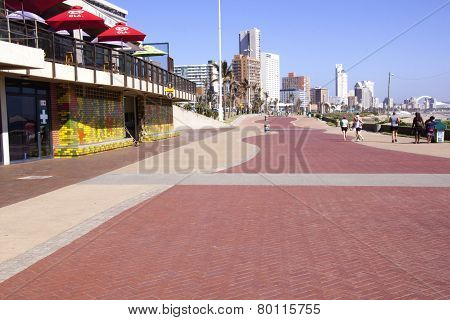 Quiet Early Morning Beach Front Promenade