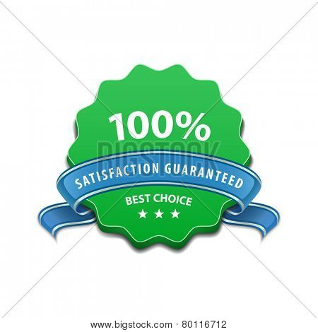100 percent Satisfaction Guaranteed Sign. Vector illustration