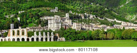 panorama of Gubbio - medieval town in Umbria, Italy
