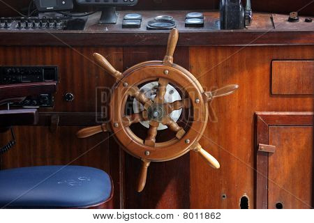 A ship helm
