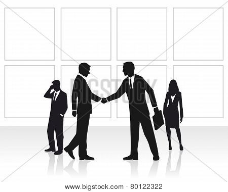 Group Businessmen  In Office