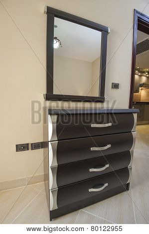 Drawers And Mirror In An Apartment