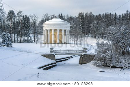 Winter Park With Rotunda And Bridge