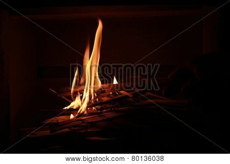 Lighting Up The Chimney Fire