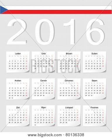 Czech 2016 Calendar