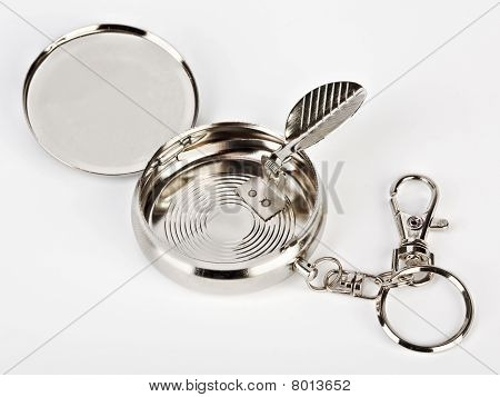 Small Pocket Ash-tray Isolated On White Background