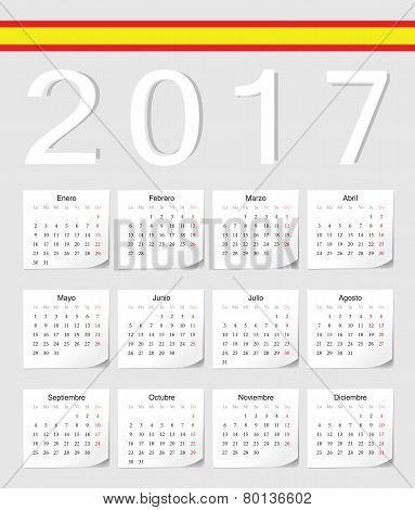 Spanish 2017 Calendar