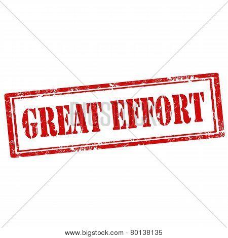 Great Effort-stamp
