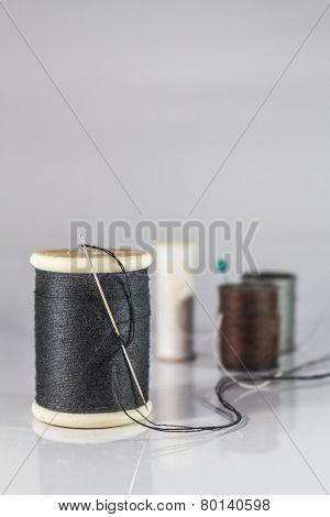 Roll Of Black Thread