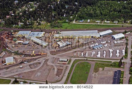 Saw Mill Lumber Yard And Loading Yard