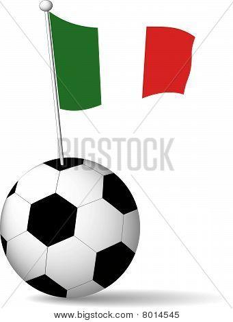 Italian Flag in Soccer Ball