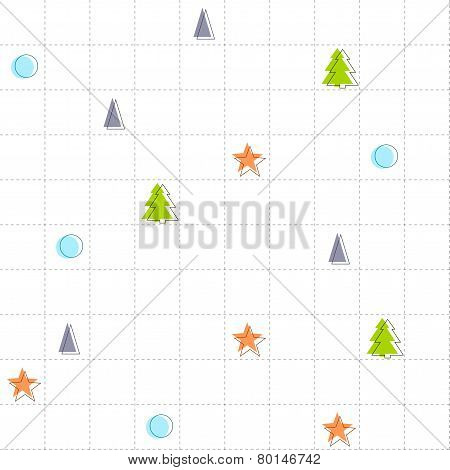 Minimalistic Seamless Pattern Or Background