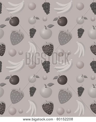 Fruits pattern - seamless vector background ideal for wrappings