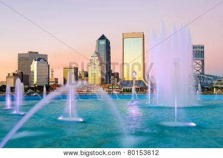 Jacksonville, Florida Fountain Skyline
