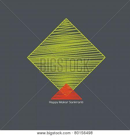 Green Kite, Makar Sankranti Concept