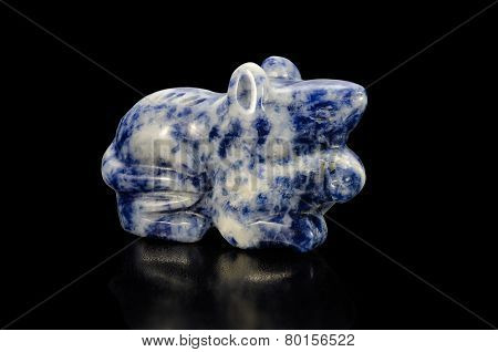 Carved Sodalite Figurine Rat
