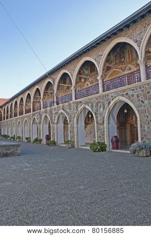 The Holy Monastery Of The Virgin Of Kykkos In Troodos Mountains Cypru