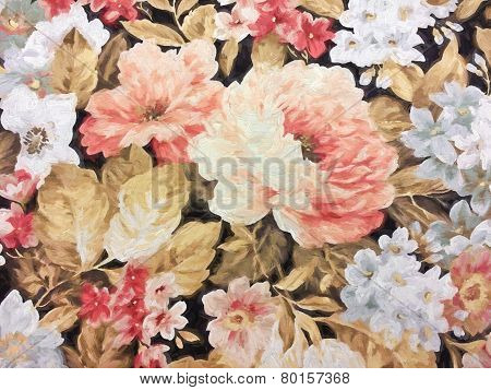 old-fashioned floral impressionism