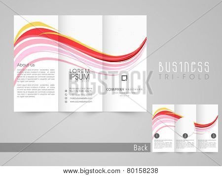 Professional three fold brochure, catalog and flyer template for business purpose.