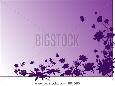 Floral decoration - vector