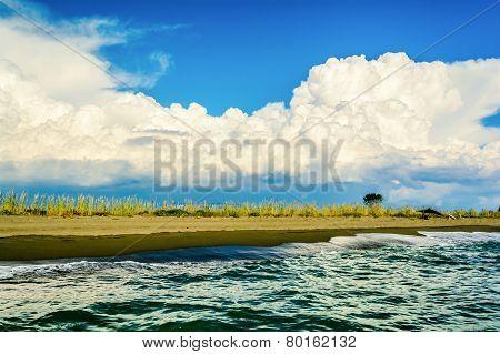 Beach On Ada Bojana, Montenegro