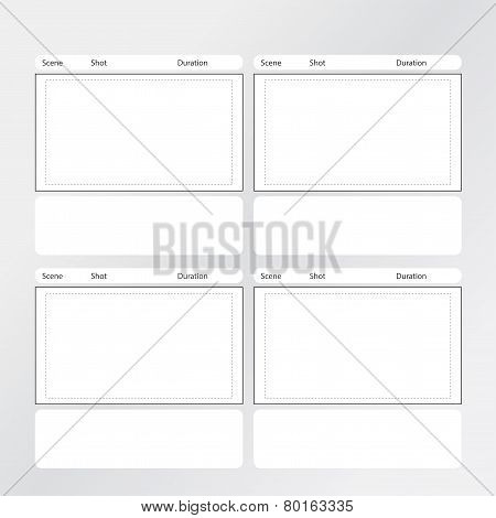 Storyboard Template 4 frames