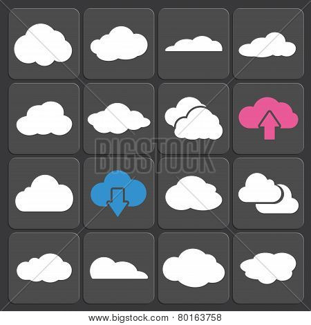 Cloud Shapes Vector Set