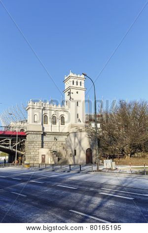 Tower And A Staircase To The Poniatowski Bridge